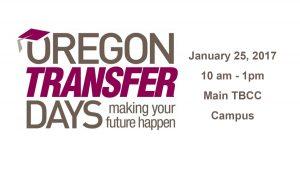 Oregon Transfer Days event