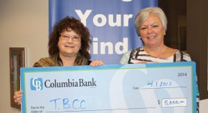 Connie Green with Jan Jensen of Columbia Bank