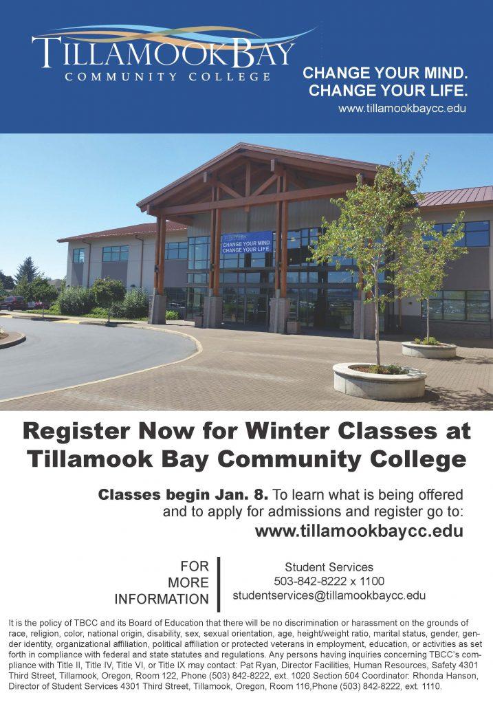 Winter Registration Announcement