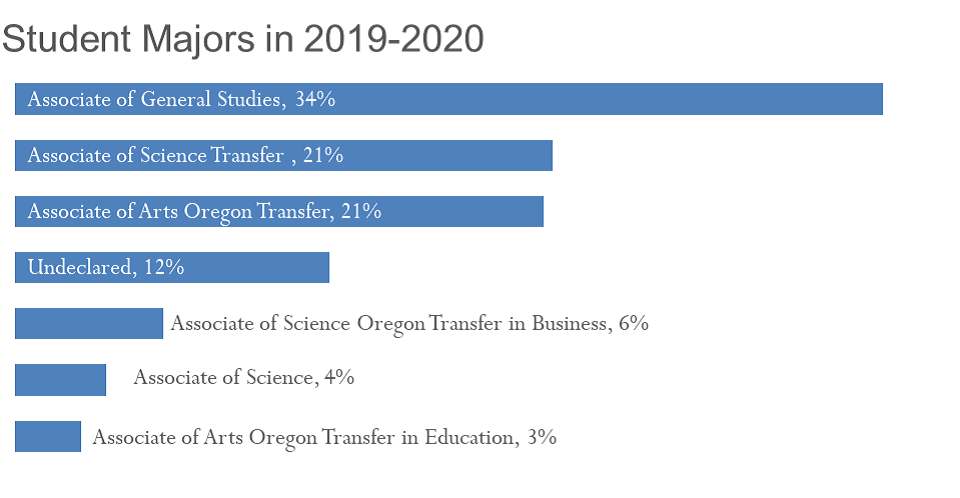 Graph of Student Majors in 2019-20
