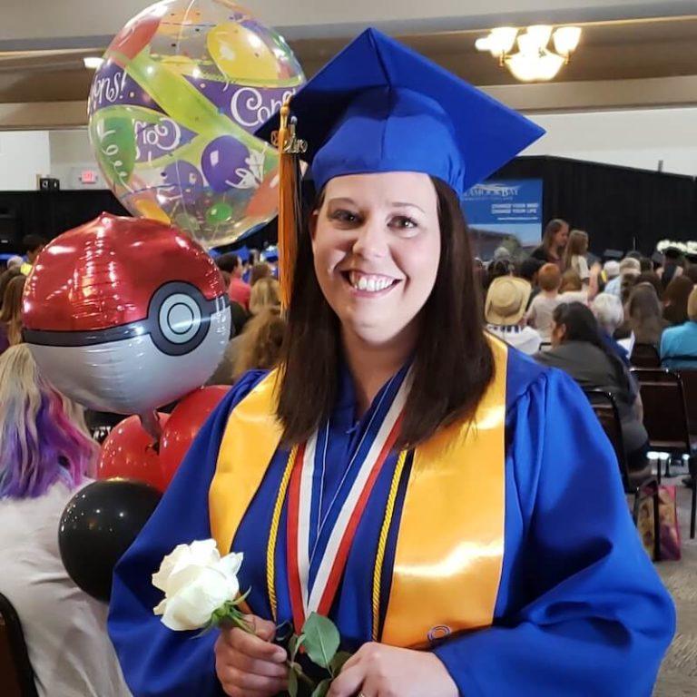 Kym at graduation