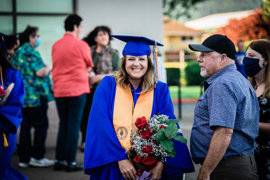 2021 graduation smiling student