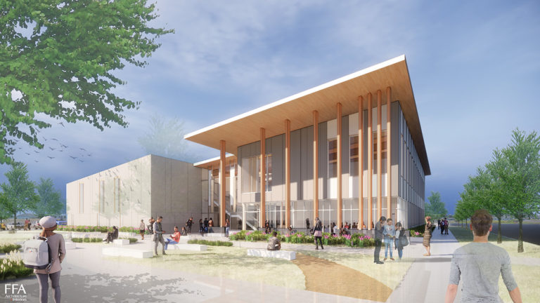 Photo of Proposed New Building